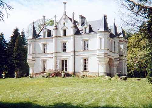 Chateaux Of The Loire. 19th Century Chateau de